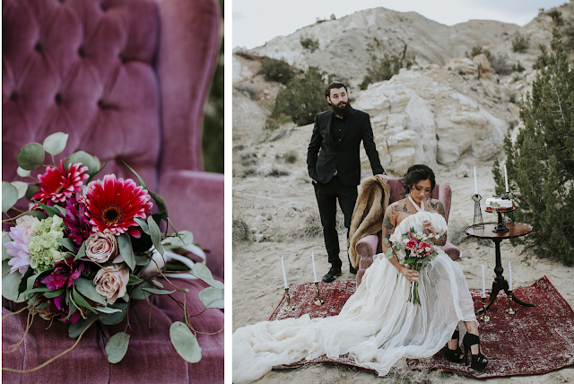 styled wedding shoot bouquet