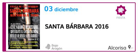 Santa Bárbara 2016 en Alcorisa