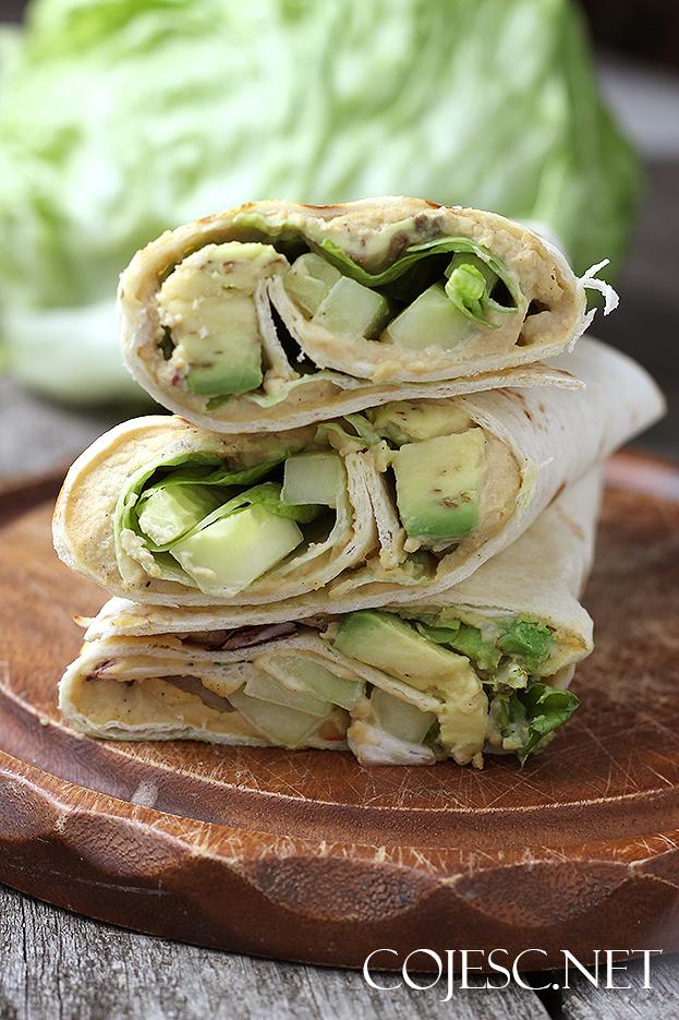 Grillowane Tortille Z Hummusem Wytrawne Cieple Sniadanie Zdrowe