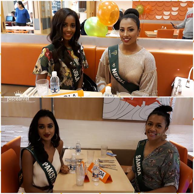 miss earth Angola, Nepal, Pakistan, Samoa.