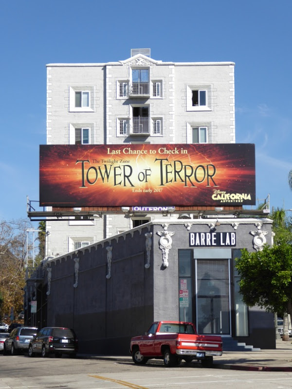 Tower of Terror Disney Halloween billboard