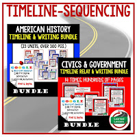 American History Timelines and Civics Sequencing