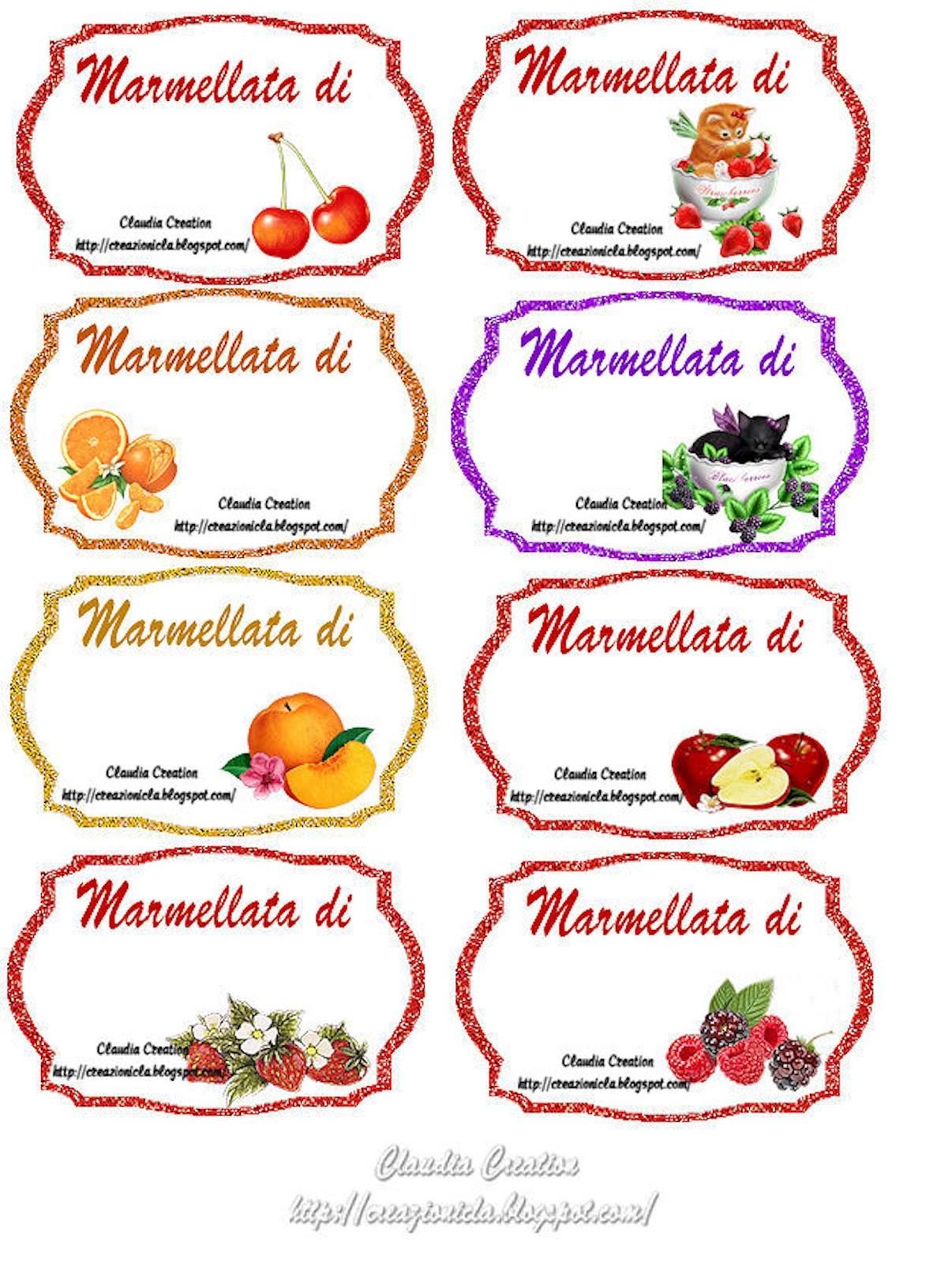 Creazioni cla etichette marmellata - Immagini di marmellata di animali a colori ...