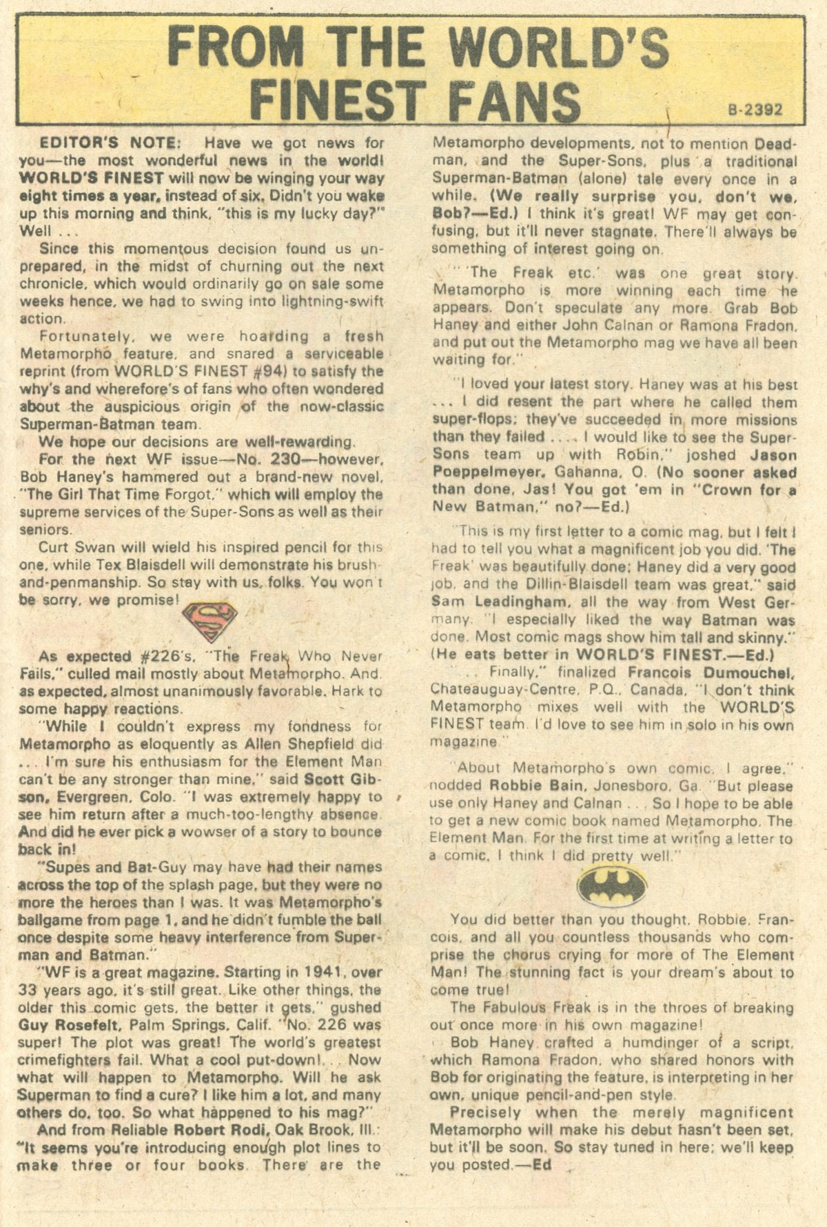 Read online World's Finest Comics comic -  Issue #229 - 33