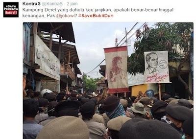Dulu Bukit Duri Dikunjungi Jokowi di Hari Pertama sebagai Gubernur DKI, Kini Tragis Digusur!