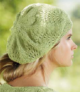 Free Knitting Pattern Beret Straight Needles : Miss Julias Patterns: Free Patterns - Lace Projects to Knit & Crochet