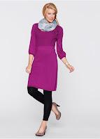 Rochie tricotată cu mâneci 3/4 bonprix (bonprix)