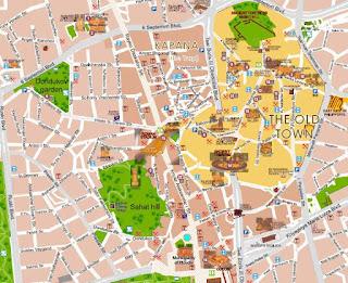 Mapa turístico de Plovdiv.