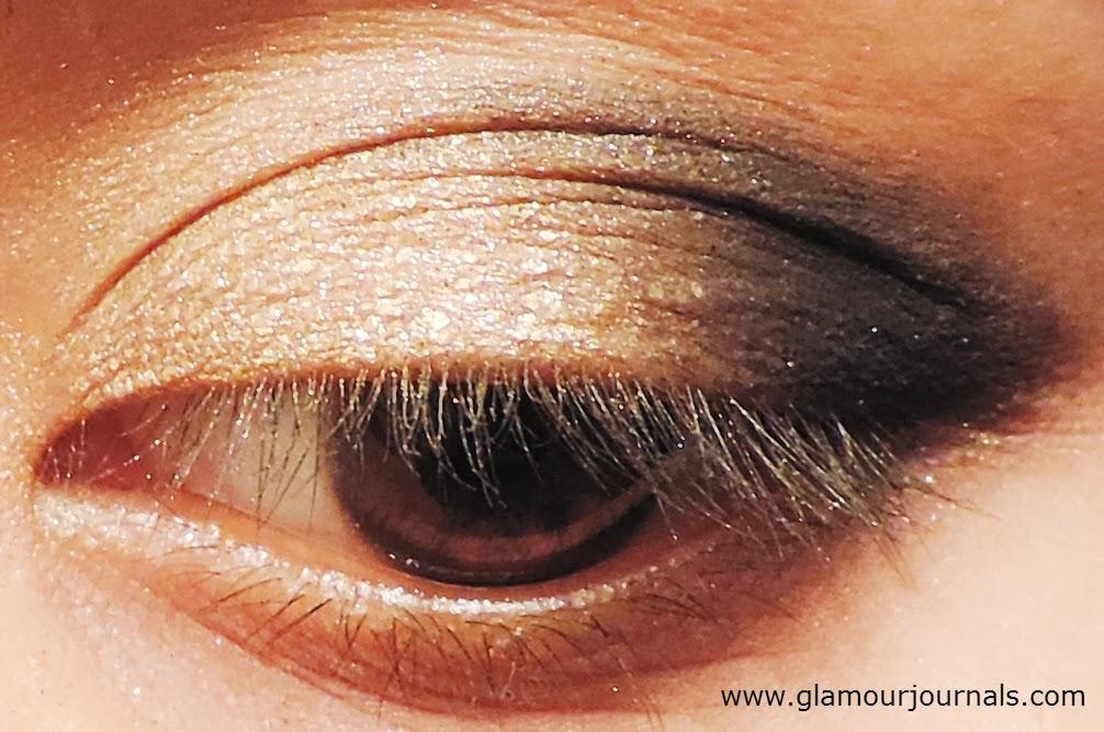 Black & Gold Diwali Smokey Eye Makeup Tutorial