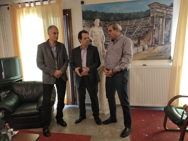 Επίσκεψη του  Γ.Γ.Υποδομών Γιώργου Δέδε στο Δημαρχείο του Δήμου Επιδαύρου