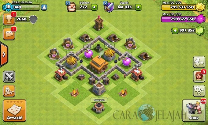 Desain Base Town Hall 3 Terbaik Dan Terbaru Clash Of Clans 17