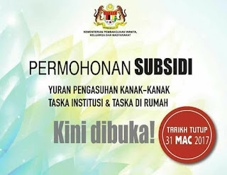 Borang Permohonan Subsidi Taska