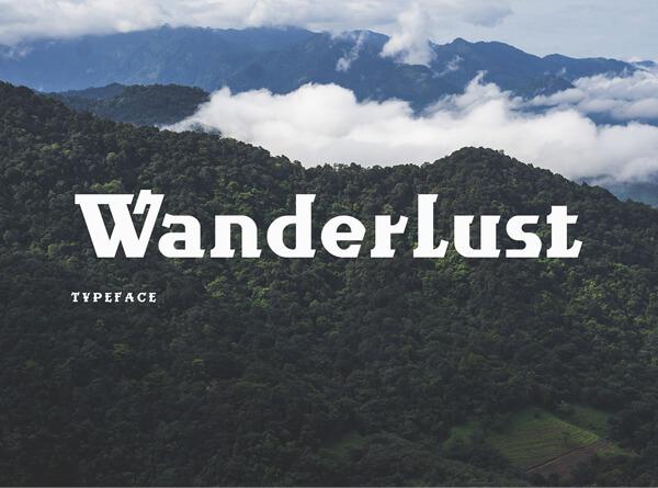 Free Font - Wanderlust Free Font