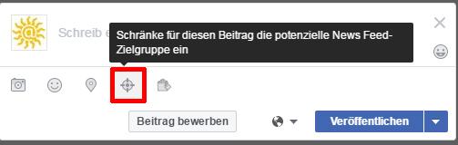 News-Feed Zielgruppe -Facebook