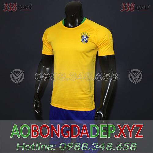Áo Brazil 2019 Sân Nhà Màu Vàng Đẹp