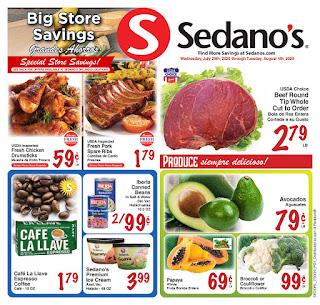 ⭐ Sedanos Ad 8/5/20 ⭐ Sedanos Weekly Flyer August 5 2020