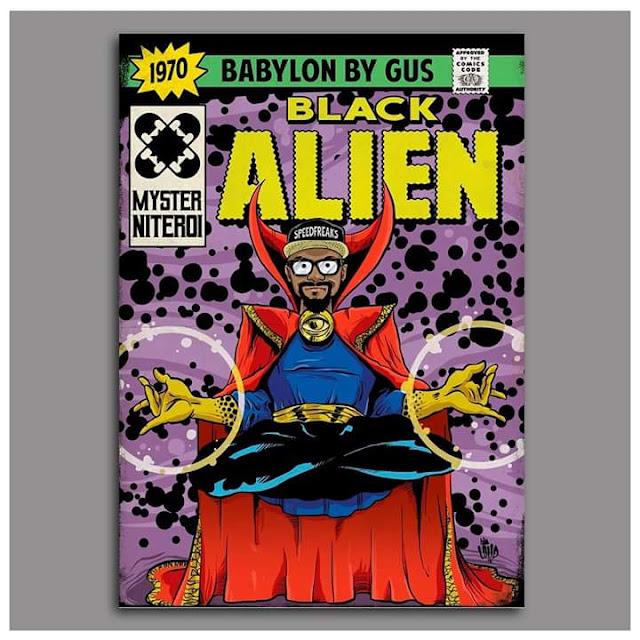 Black Alien é retratado como Dr. estranho.