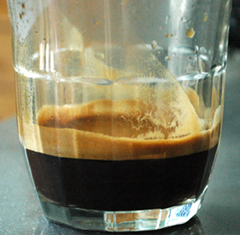 After brew coffee crema