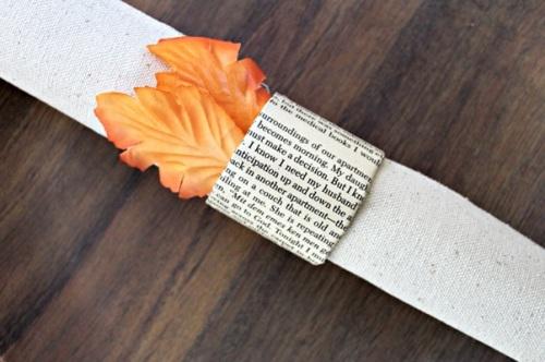 Daur ulang kertas buku menjadi cincin serbet