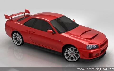 free 3d model car