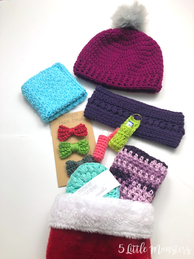 5 Little Monsters Basic Crocheted Hat With Ribbed Edging