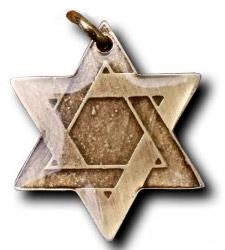 Dávidova hviezda zobrazuje šesť pracovných dní a sabat.