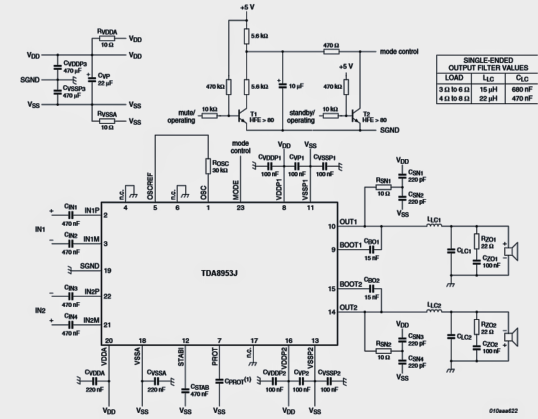 circuit diagram home theater