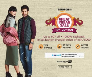 Great Indian Festival - Up to 90% off