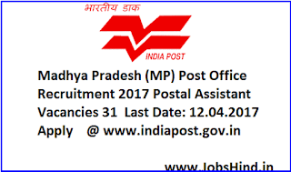 Madhya Pradesh (MP) Post Office Recruitment 2017