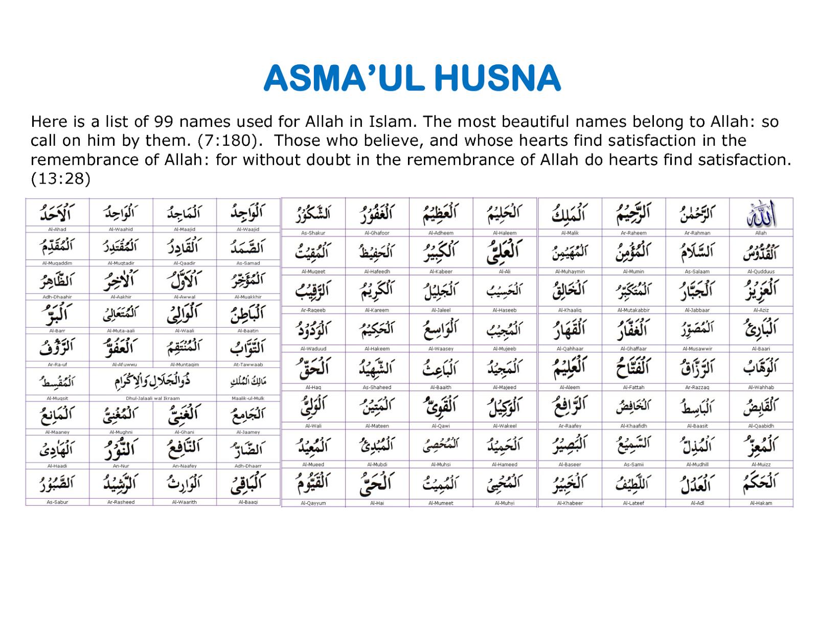 An Ordinary Me Tips Dan Trik Menghafal Asmaul Husna