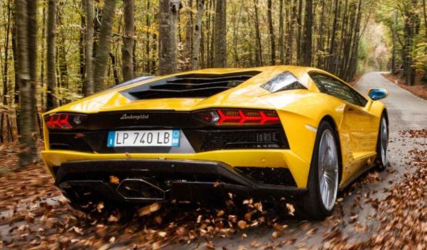 2017 Lamborghini Aventador Rear View
