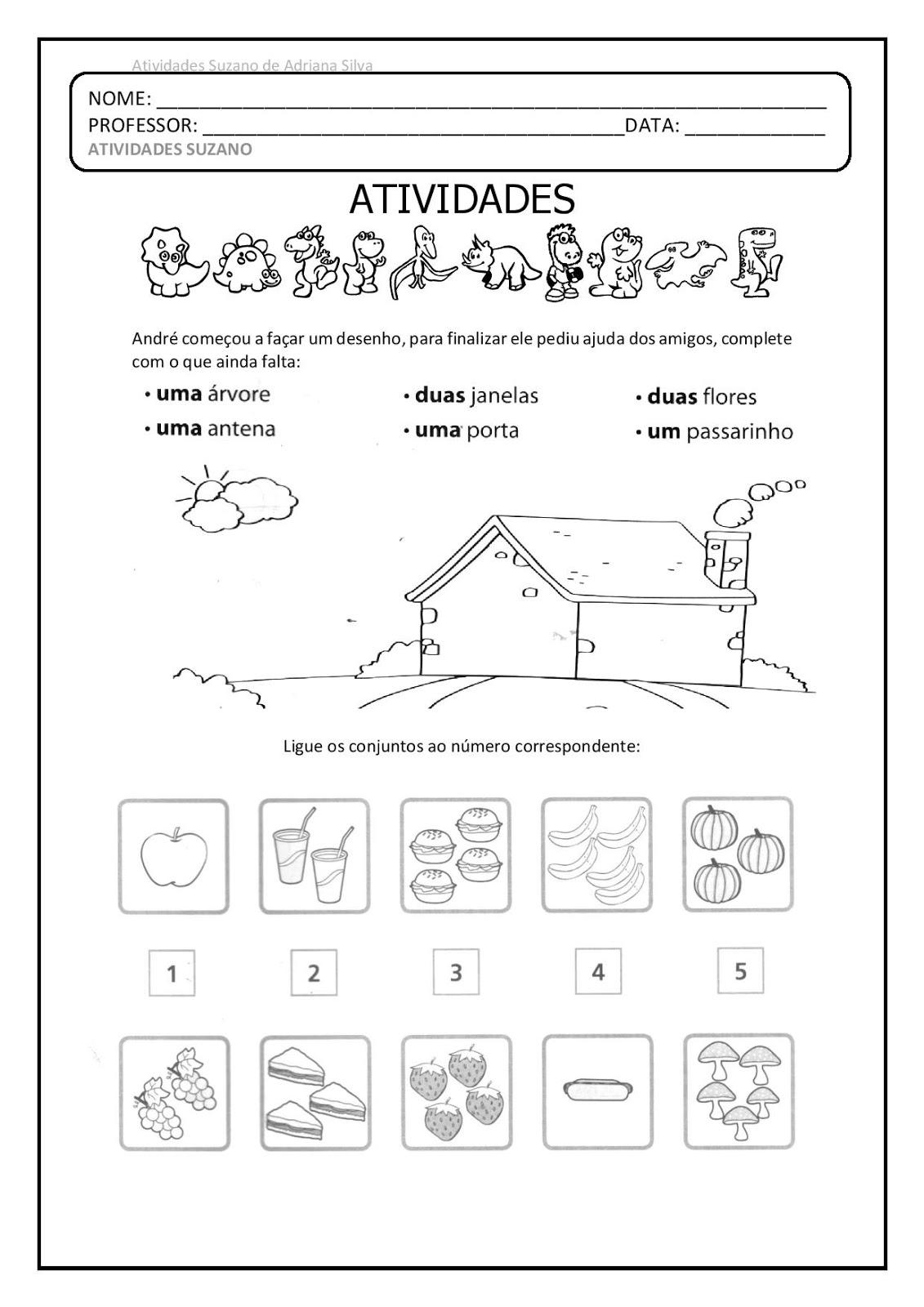 1º ano revisão em pdf atividades pedagogica suzano
