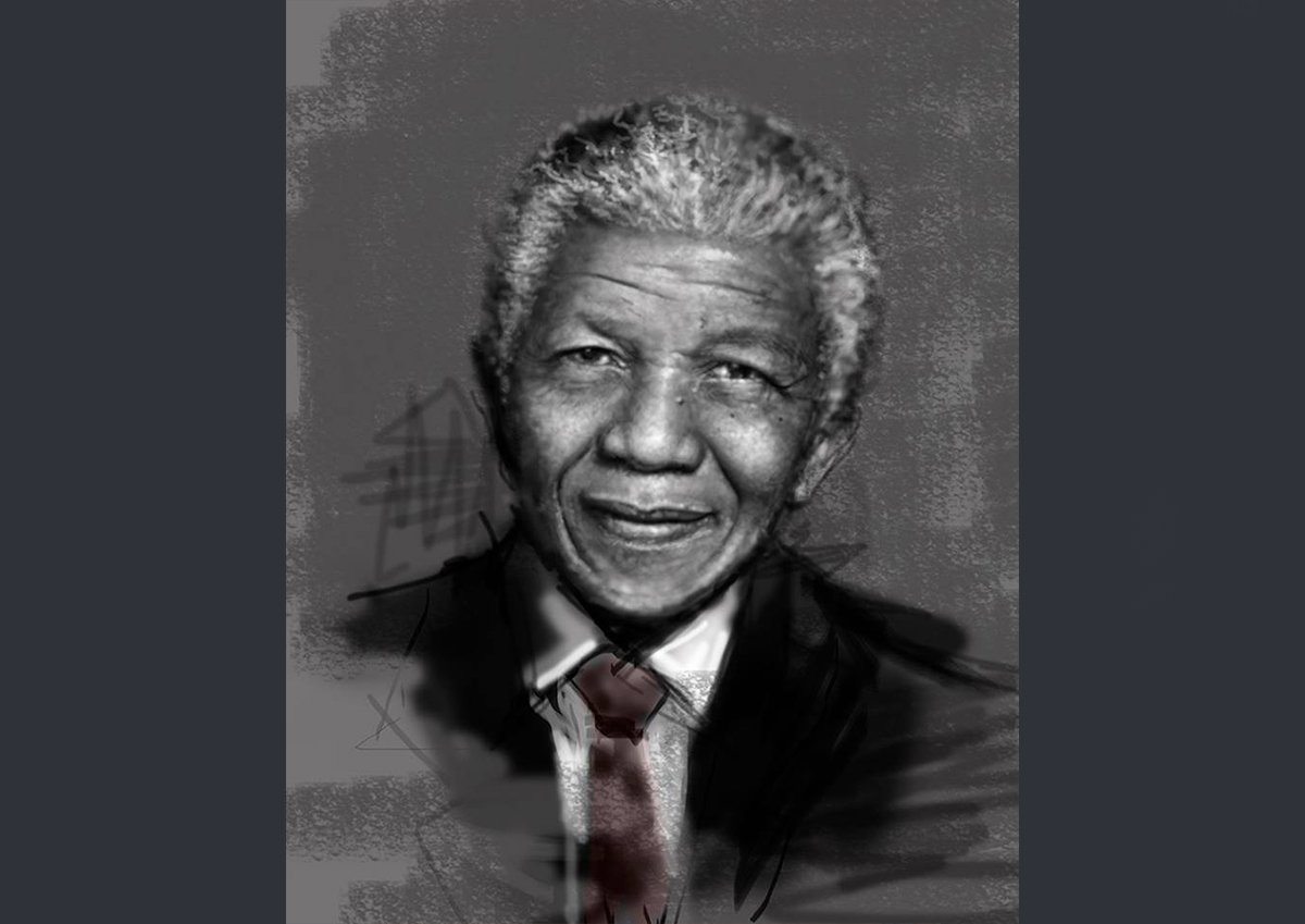 """Homenaje a Nelson Mandela: 1918-2013  El legado de Nelson Mandela perdura a través de sus palabras. Símbolo internacional y personaje muy querido más allá de las fronteras sudafricanas, sus miedos y sus alegrías permanecerán en la memoria colectiva más allá de su muerte. Aquí Les dejo algunas frases de él y un retrato digital que he realizado para recordar a un hombre inolvidable.  """"La mayor gloria no es caer, sino levantarse siempre"""".  """"Detesto el racismo, porque lo veo como algo barbárico, ya sea que venga de un hombre negro o un hombre blanco"""".  """"Nunca pienso en el tiempo que he perdido. Solo desarrollo un programa que ya está ahí. Que está trazado para mí""""."""