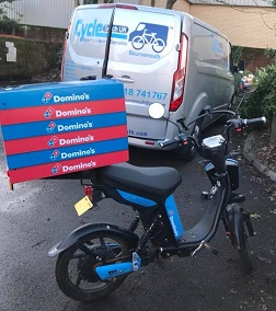 Dominos Delivery Bikes