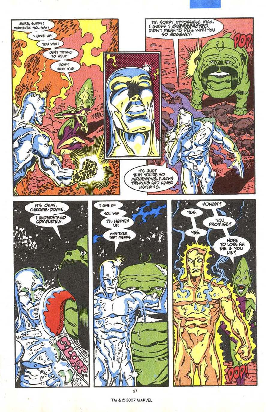 Read online Silver Surfer (1987) comic -  Issue #36 - 29