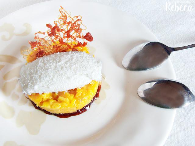 Tartar de mango y coco