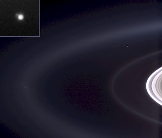 Earth and Moon seen from Saturn