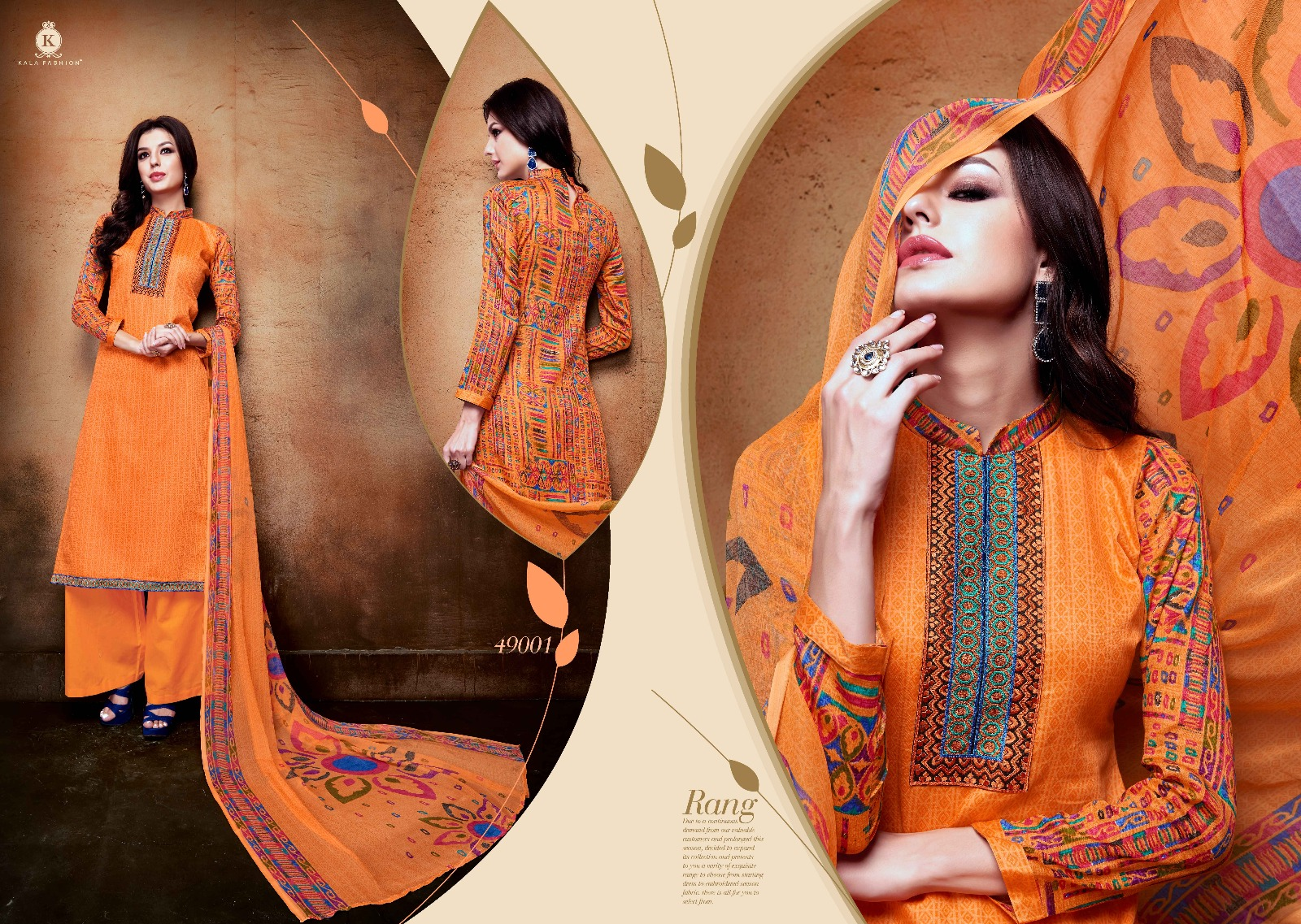 Tanya Vol 49 – Glace Cotton With Work Plazzo Style Salwar Kameez