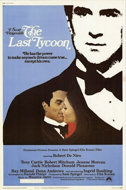 The Last Tycoon (1976), Poster, Directed by Elia Kazan, based on F. Scott Fitzgerald novel, starring Robert De Niro