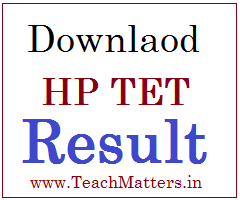 image : Download HP TET Result 2020 @ www.TeachMatters.in