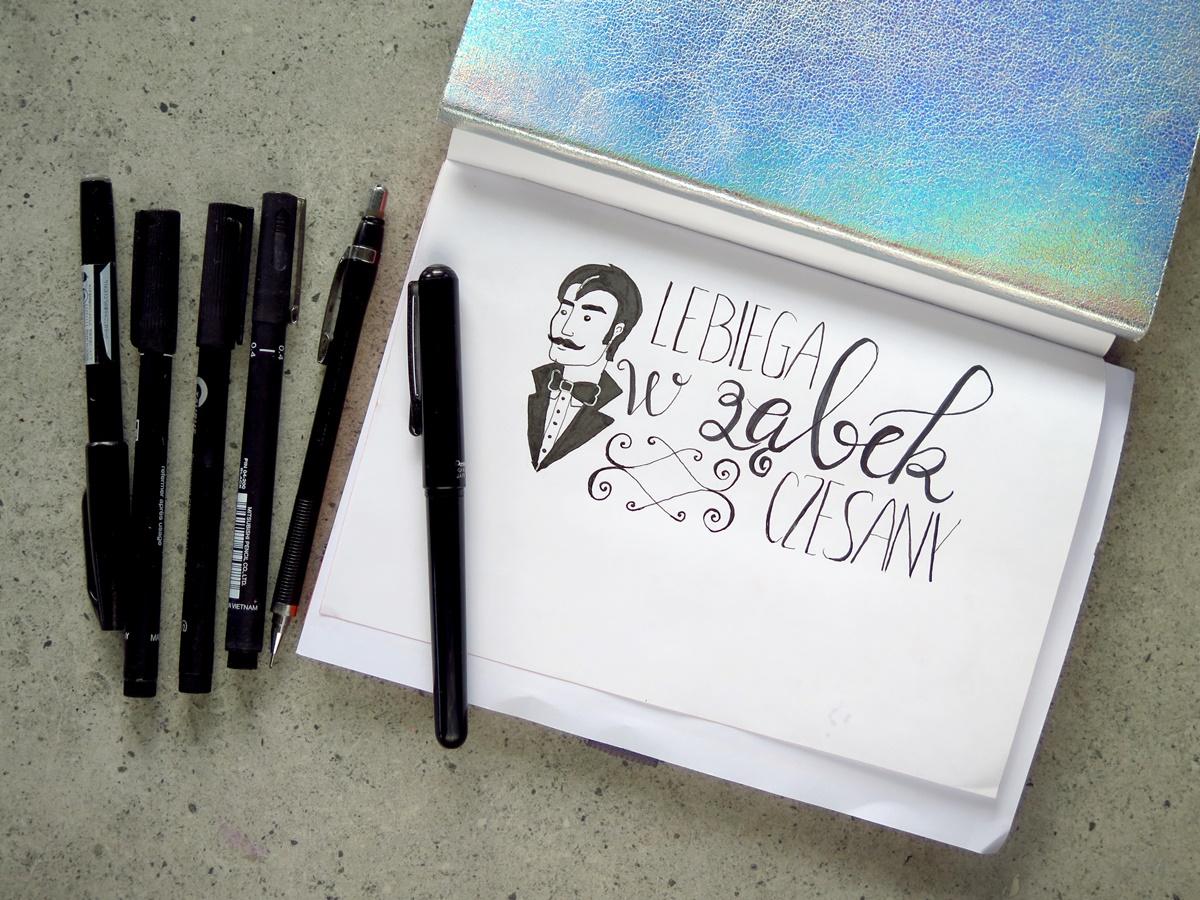 """Hand lettering – 10 pomysłów na kreatywny napis. Podsumowanie wyzwania """"Piszemy brzydkie wyrazy""""."""