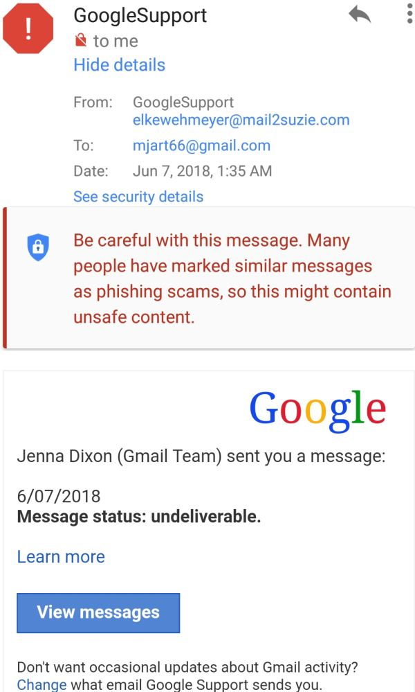 FAKE GOOGLE SUPPORT
