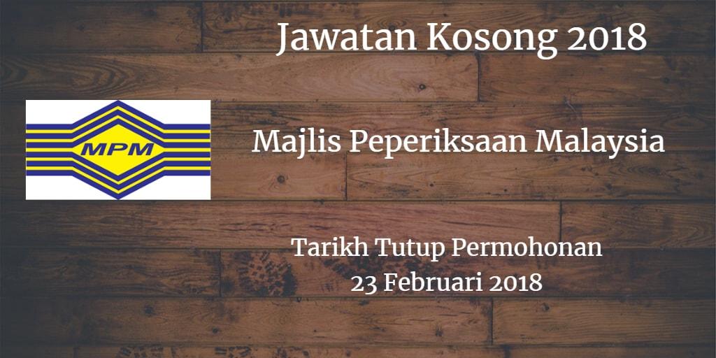 Jawatan Kosong MPM 23 Februari 2018