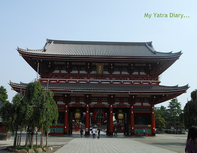 The Hozomon Gate at the Sensoji Temple, Tokyo