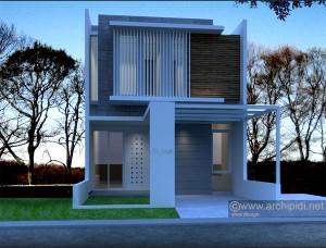 desain rumah minimalis modern lebar 6m 2 lantai - buatan aku