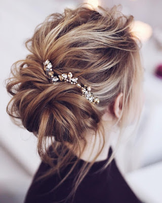 Messy and Magical Bridal Updo