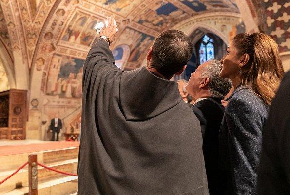 Queen Rania, German Chancellor Angela Merkel, Italian Prime Minister Giuseppe Conte