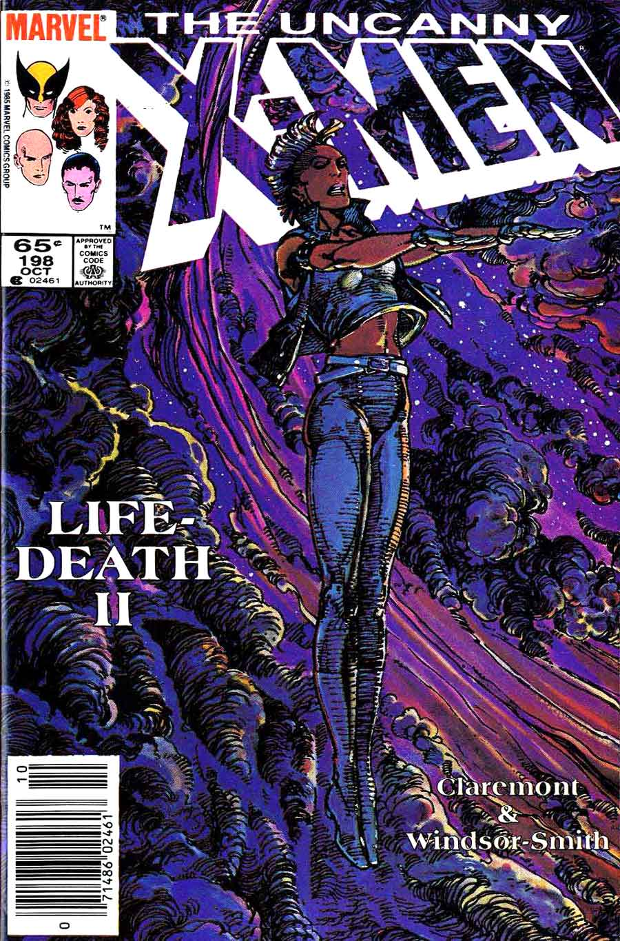 X-men v1 #198 marvel comic book cover art by Barry Windsor Smith
