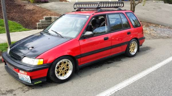 1990 Honda Civic Wagon 4wd For Sale 4x4 Cars