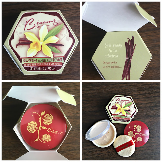 Besame Vanilla Face Powder_Packaging Details_Makeup by Keri Ann product purchase